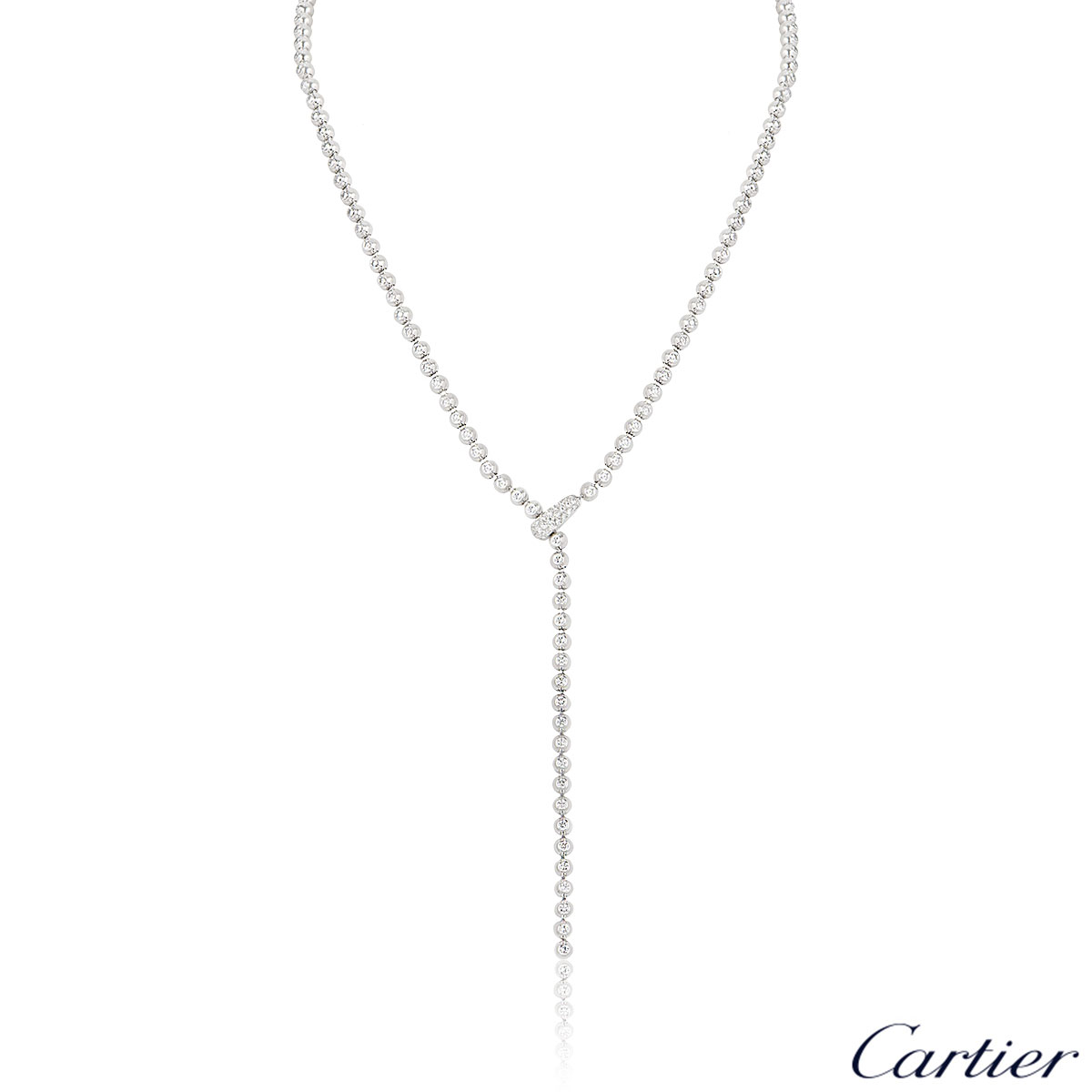 Cartier White Gold Diamond Necklace
